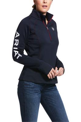 Ariat Womens Tek Team 1/4 Zip Top Navy