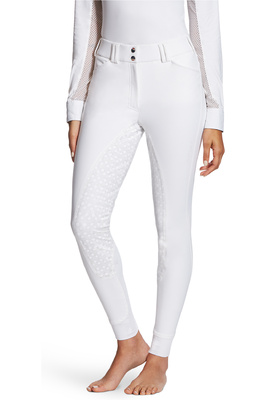 Ariat Womens Tri Factor Grip Full Seat Breeches White