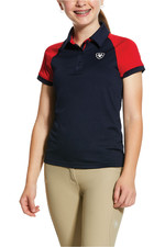 Ariat Youth Team 3.0 Button Polo - Navy