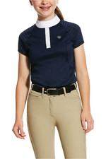Ariat Girls Aptos Vent Short Sleeve Show Shirt 10030373 - Navy