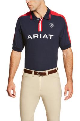 Ariat Mens New Team Polo Navy