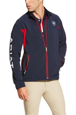 Ariat Mens New Team Softshell Jacket Navy