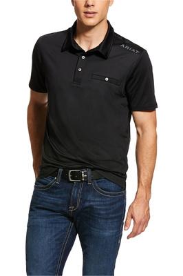 Ariat Mens Norco Polo Shirt 10030350 - Black