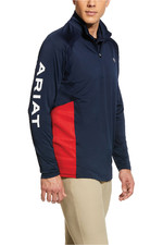 Ariat Mens Sunstopper 2.0 1/4 Zip Team Base Layer Top 10031008 - Navy