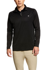 Ariat Mens Sunstopper 1/4 Zip Base Layer Top 10030353 - Black