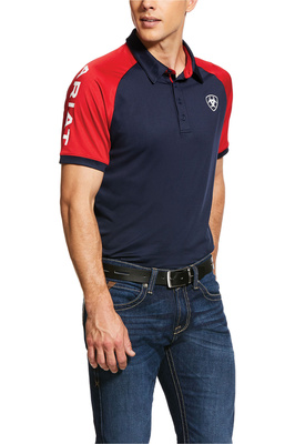 Ariat Mens Team 3.0 Polo Shirt 10030355 - Navy