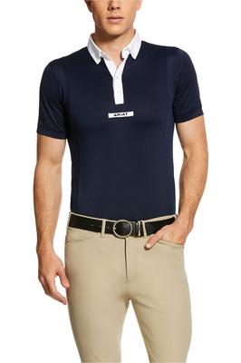 Ariat Mens Tek Short Sleeve Show Shirt 10030557 - Navy