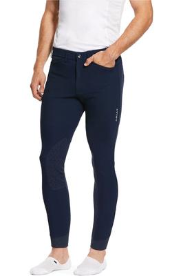 Ariat Mens Tri Factor Grip Knee Patch Breeches 10030540 - Navy