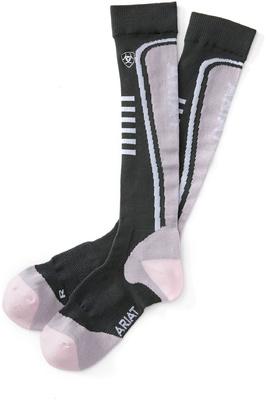 Ariat Womens Ariattek Slimline Socks Pearl / Slate