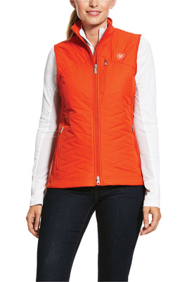 Ariat Womens Hybrid Insulated Water Resistant Gilet 10030528 - Red Clay