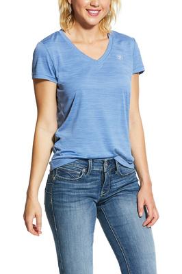 Ariat Womens Laguna Short Sleeve Top 10030886 - Blue Heather