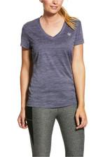 Ariat Womens Laguna Short Sleeve Top 10030888 - Greystone Heather