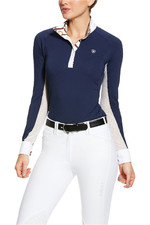 Ariat Womens Marquis Long Sleeve Show Shirt 10030521 - Navy