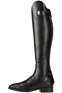 Ariat Womens Tall Monaco Stretch Field Zip Riding Boots Black