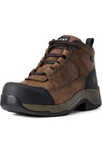 Ariat Womens Telluride Work H20 CT Boots Distressed Brown