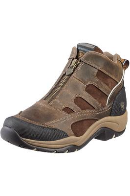 Ariat Womens Terrain Zip H20 Paddock & Yard Boots Distressed Brown