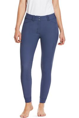 Ariat Womens Tri Factor Grip Knee Patch Breeches 10030999 - Night Shadow Blue