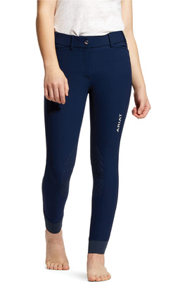 Ariat Youth Tri Factor EQ Grip Knee Patch Breeches 10030996 - Navy