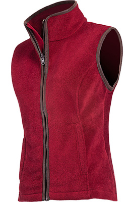 Baleno Womens Sally Fleece Gilet Burgundy