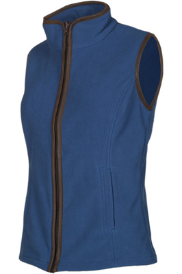 Baleno Womens Sally Fleece Gilet Grey / Blue