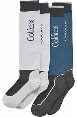 Caldene Womens Valla Technical Socks 2 Pack Grey / Navy