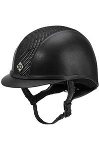 Charles Owen AYR8 Leather Look Helmet Black