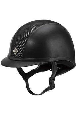 Charles Owen AYR8 Leather Look Helmet Black
