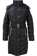 Coldstream Womens Branxton Long Quilted Coat - Black