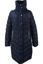 Coldstream Womens Kimmerston Long Quilted Coat - Navy
