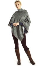 Dubarry Womens Hazelwood Tweed Poncho Sorrel
