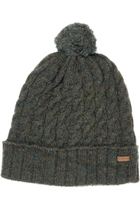 Dubarry Athboy Knited Bobble Hat Olive