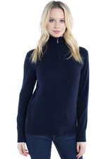 Dubarry Womens Coleraine Half Zip Sweater Navy