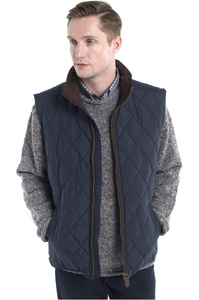Dubarry Mens Davis Quilted Gilet Navy