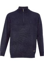 Dubarry Mens Mullen Half Zip Crew Sweater Navy