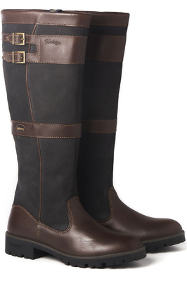 Dubarry Womens Longford Leather Boot Black / Brown