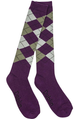 Dublin Argyle Socks Purple / Ash