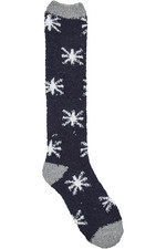 Dublin Cosy Socks Grey/Navy / White