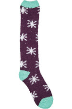 Dublin Cosy Socks Plum / White