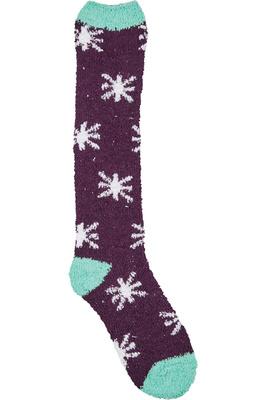 Dublin Cosy Socks Plum / White