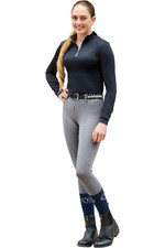 Dublin Womens Performance Flex Knee Patch Riding Tights 5927 - Charcoal