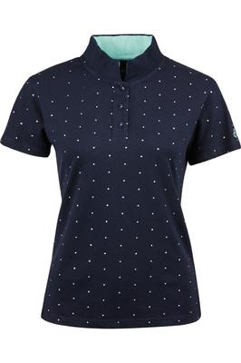 Dublin Womens Marine Short Sleeve Polo T-Shirt Navy