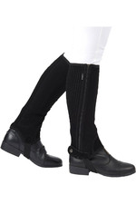 Dublin Childrens Easy-Care Half Chaps II Black