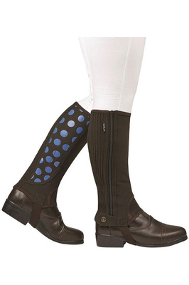 Dublin Childrens Easy-Care Spot Print Half Chaps Brown / Blue