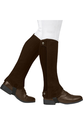 Dublin Childrens Easy-Care Premier Half Chaps Brown