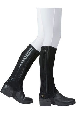 Dublin Easy-Care Wave Grip Half Chaps Black