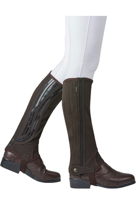 Dublin Easy-Care Wave Grip Half Chaps Brown