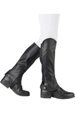Dublin Childrens Stretch Fit Half Chaps Black
