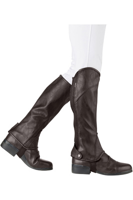Dublin Childrens Stretch Fit Half Chaps Brown