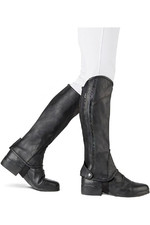 Dublin Childrens Stretch Fit Sparkle Half Chaps Black