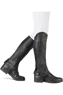 Dublin Stretch Fit Sparkle Half Chaps Black